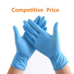 Одноразовые перчатки нитриловые синего цвета Порошок/латекс бесплатно татуировки механик медицинские средства индивидуальной защиты