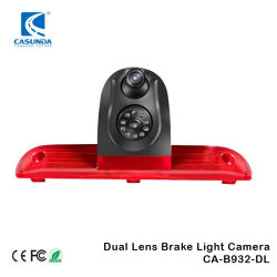 Telecamera con luce di arresto a doppia lente per box FIAT Ducato Peugeot Telecamera vista posteriore ponticello Citroen
