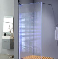 Cabina dal design moderno LED con cabina doccia semplice e box doccia con Telaio in alluminio nero e Nano autopulente certificato En12150 temprato Vetro con buon prezzo Cina