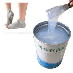 Materiale organico liquido antisdrucciolevole all'ingrosso del silicone della matrice per serigrafia dei calzini della fabbrica