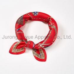 تصميم الحرير اللامع طويل الحجم والمخصص 100% من النساء وشاح رأس للسيدات