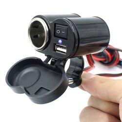 12V USB シガーライターソケットキット、 MC ソケットキット用 オートバイの供給防水シガーライター充電器 USB