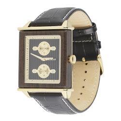 Comercio al por mayor de madera cuadrado OEM/ODM Relojes Hombre correa de cuero reloj Metal