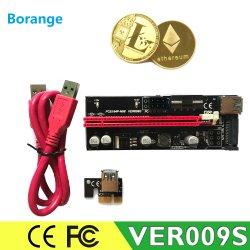 1m 0,6 м Ver009s переходной платы PCI-E 009s Pcie 1 X до 16X Extender со светодиодной подсветкой + SATA 6 контактный кабель питания кабель для Btc USB3.0