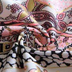 Fleuret tissu imprimé avec du nylon Spandex Warp pour maillots de bain tricoté/Bikini/Sportswear/usure/Yoga legging