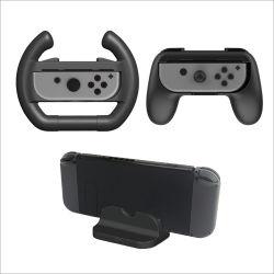 El cargador Dock titular de la empuñadura cubierta de polvo en el volante Kit de juego para Nintendo Contacto