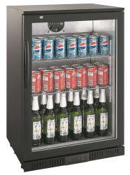 مبرد خلف الباب الزجاجي أسفل العداد للمشروبات الباردة