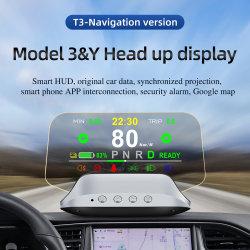Tesla용 특수 헤드업 디스플레이 T3 내비게이션 카 HUD 모델 Y