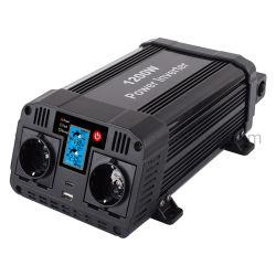 1000With1200With1500W de zuivere Golf gelijkstroom van de Sinus aan AC de Omschakelaar van de Macht van de Auto met LCD Vertoning en het Opzetten - steun