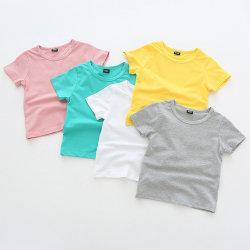 卸し売り有機性綿の赤ん坊は多彩で明白な男女兼用のTシャツに着せる