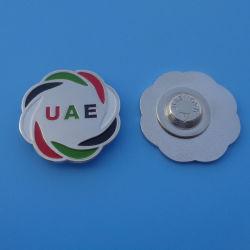 Форма цветов флага ОАЭ красочный Металлический бейдж магнита штифты для 45 лет Национальный день