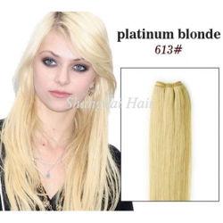 人間の毛髪のよこ糸を編むBlonded #613の毛