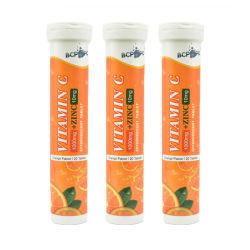 La vitamina C efervescente de Zinc tableta para SUPLEMENTO DE REFUERZO DEL Sistema Inmunológico