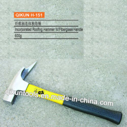 H-151 matériel de construction des outils à main poignée en fibre de verre incorporées Marteau de toiture