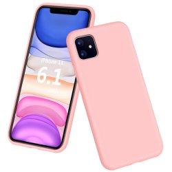 La caramella di vendita calda colora la cassa liquida del telefono del silicone per il iPhone 11