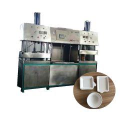 Reisstroh Zuckerrohr Bagasse Wood Pulp zu Einweg-Schüssel Cup Papier Geschirr Teller Herstellung Maschine