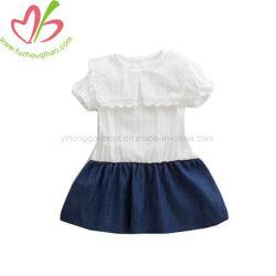 Vestido de denim causal Menina saia de emenda