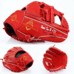 Luvas de basebol personalizadas Kip Leather com padrão de cobra vermelho de 12,5 cm