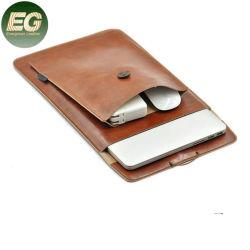 Embg6275 남성용 고급 노트북 가방 태블릿 커버 백 방수 맞춤형 가죽 노트북 슬리브