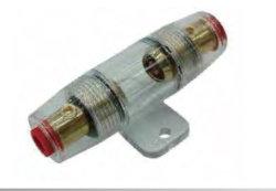 Fusível do suporte de fusíveis de automóveis tocar os terminais da bateria