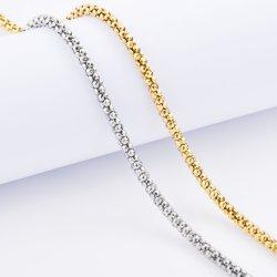 공장 공급사 18K 골드 스테인리스 스틸 인기 힙합 체인 브라체렛 보석 목걸이 크리스마스 선물