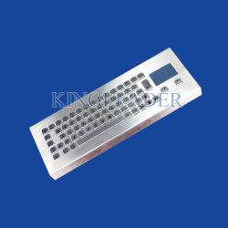 Ordinateur de bureau en métal brossé de style antivandale clavier compact avec pavé tactile