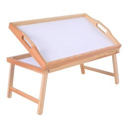 マルチファンクション無垢材製小テーブルまたはトレイ