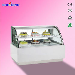 aço inoxidável vitrina de bolos /Bolo vitrina de exposição/Comercial vitrina frigorífica Bolo de exibição
