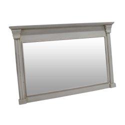 De witte Frame Grote Rechthoekige Muur van de Badkamers zet de Spiegel van de Muur van de Ijdelheid op