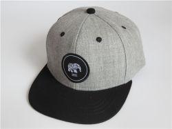 관례에 의하여 길쌈되는 패치 유아 Snapback 모자 작은 남자 아기 Snapback 모자 편평한 테두리 까만과 회색 모자