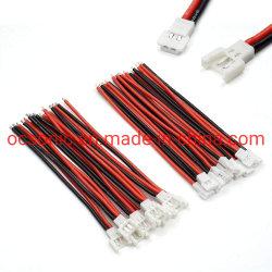 maschio e femmina del connettore della spina del cavo del cavo della forcella 2p di 2.0mm per il carico di batteria di 1s Lipo