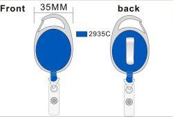 Mosquetón retráctil Oval porta-carretes insignia de clips con cadena reforzada