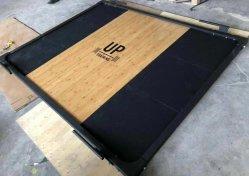 Peso personalizzato con logo stampato piastra paraurti sollevamento pesi per impieghi pesanti Piattaforma di sollevamento pesi in legno