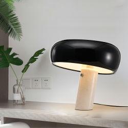 Lampada di marmo nera classica della Tabella della lampada della base LED del ristorante moderno per l'hotel