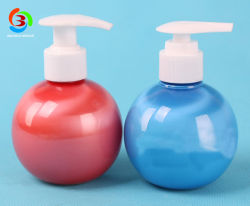 Petrolio essenziale della bottiglia rotonda dell'animale domestico rosso del rifornimento 220ml/dentifricio in pasta di plastica con la pompa