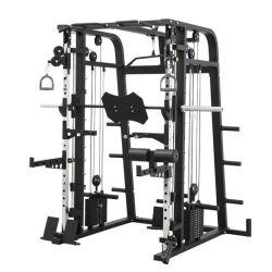 Vente en gros corps de bâtiment Gym Fitness Equipement de fitness Multi fonctionnel câble croisé Support de vélo réglable pour machine Smith rack de vélo électrique