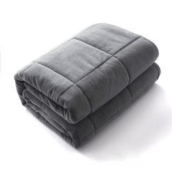 10 libras de 15 libras de algodón 20 Lbs Manta ponderada con microesferas de vidrio de alta densidad de dormir.