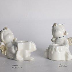 2020 Nouvelle conception de Noël Décoration céramique jolie fille forme pour la décoration d'accueil