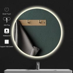 装飾的な壁の LED スマートな浴室のミラー LED ライトの霧を抗しなさい Bluetooth を使用している場合