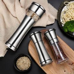Manual de metal em aço inoxidável Spice Agitadores Moinho Moedor de Pimenta Definido