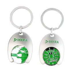 Direkt Keychain Hersteller-weiche Decklack-Metalllaufkatze-Münzen-Schlüsselring