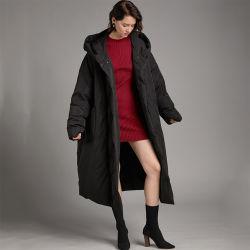 Neue Damen Warme Winter Modelle Plus Samt Dicke Modelle Großhandel Lange Daunenjacke Mit Geteiltem Ende