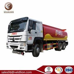 Sinotruk HOWOのアルミ合金のステンレス鋼5m3 10cbm 15、000liters 20m3 25の5つのコンパートメントが付いている000liters燃料タンクオイルの配達用トラックオイルのローディングの手段