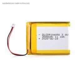 De Batterij van het Polymeer van het Lithium 3000mAh van de Batterij van het Polymeer van Li van Sujor 3.8V 104050 met Goedgekeurd Ce