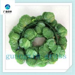 Venda por grosso verde chinês IVY Scindapsus Aureus Hitom pendurar na parede artificial de lâminas para Decoração de parede vertical