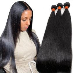 Groothandel Russische haarbundels China Wig Peruaanse rechte Remy haar Weft Goedkope Braziliaanse Hair Weave 100% Natural Pure Virgin Human Haarverlenging