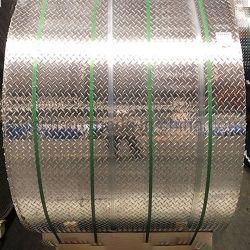 3003 5754 ورقة ماسية/حلية من الألومنيوم بخمسة القضبان/ألومنيوم مخروطية لأرضية الشاحنة، سعر علبة