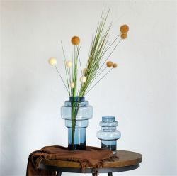 Licht Luxe Blauw Gourd Glass Vaas Bloem inserteerapparaat Home Zachte decoratie Nieuw Design Product Versatile Crafts