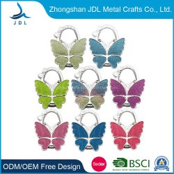 Custom Iron Made Metal Craft Fashion Accessoires Butterfly Shape Beautiful Women Bag Hanger With Oem (002)