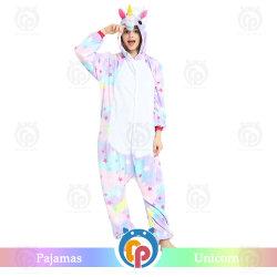 Factory Venta caliente estrella Kigurumi Unicorn pijamas